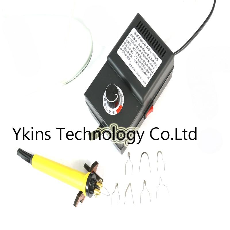 Free shipping mini Adjustable temperature gourd pyrography machine 8 pcs Pyrography iron Tips 25W 220V 110V