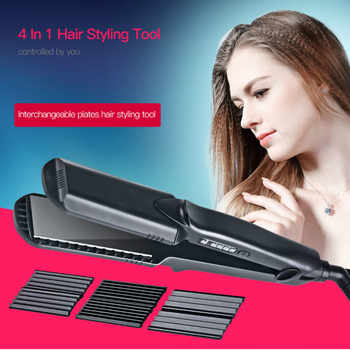 CkeyiN Ceramic Corrugated Curling Iron Hair Straightener Crimper Corrugation Hair  Curler Flat iron Waves Hair Styler Tools - DISCOUNT ITEM  33% OFF All Category