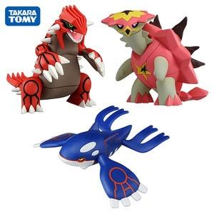 Image 1 - TAKARA TOMY Groudon Kyogre Turtonator Action Figure Model Toys Cartoon Anime Figures Gifts Toys for Children