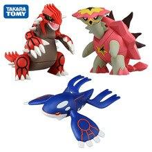 TAKARA TOMY Groudon Kyogre Turtonator פעולה איור דגם צעצועי קריקטורה אנימה דמויות מתנות צעצועים לילדים
