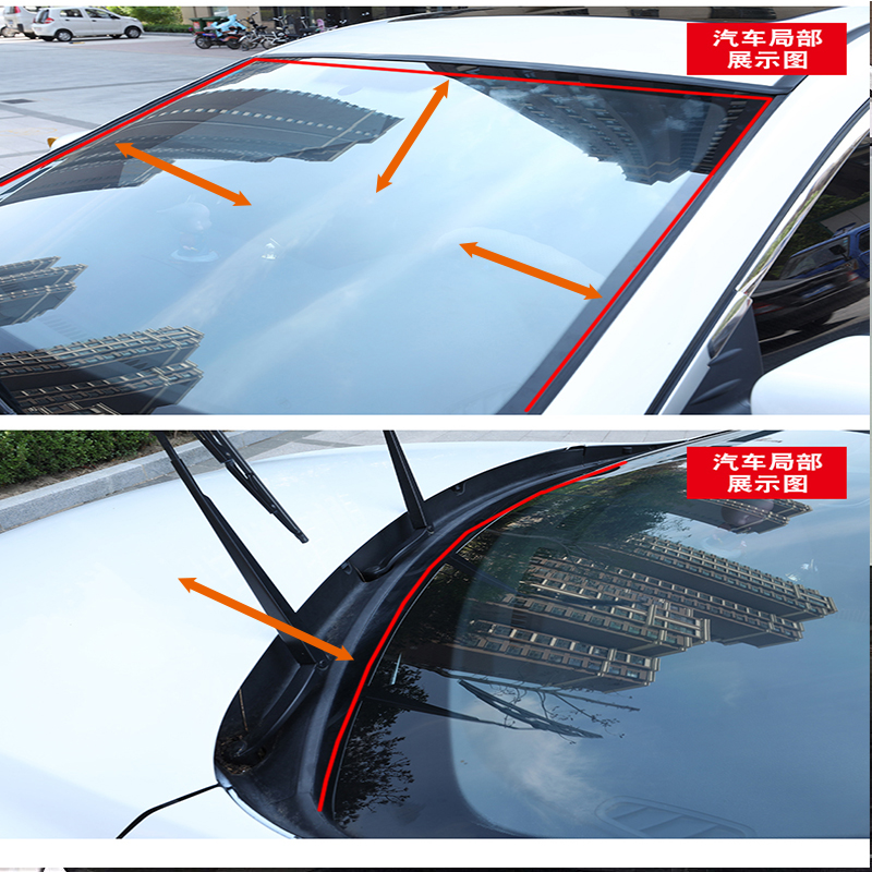 100cm Car Front Rear Window Windshield Soundproof Seal Strip For Ford Focus 2 3 Fiesta Mondeo Ranger Kuga Seat Leon Ibiza Lexus in Car Stickers from Automobiles Motorcycles