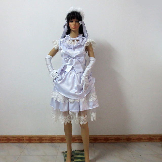 Black Butler Elizabeth Midford Cosplay Costume White Dress With
