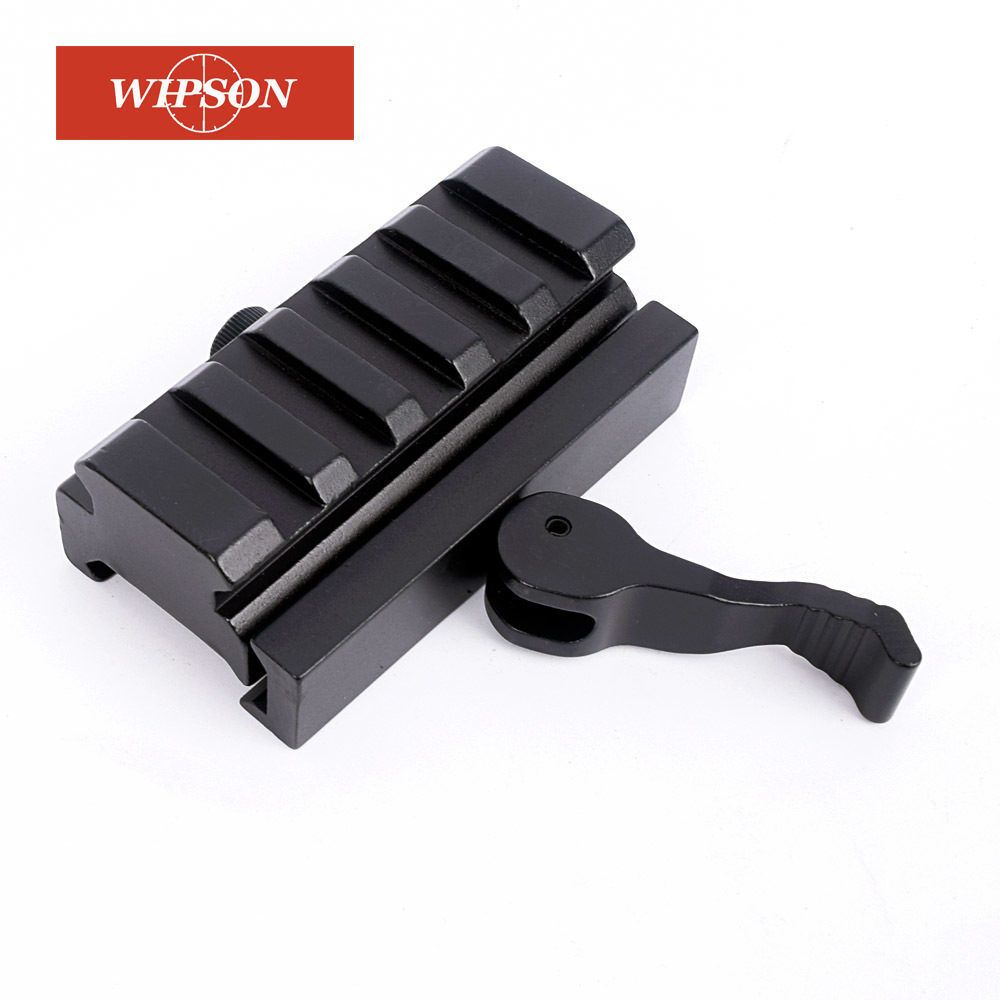 Wiinson liberação rápida AR-15 m16 red dot riser montagem adaptador de metal compacto montagem ajuste caça laser escopo 20mm picatinny base trilho