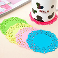 5 Pcs/lot Home Table Cup Mat Creative Flower Shaped Decor Coffee Pad Coasters Placemat for Drinks Coasters Silica Gel Cup Mat