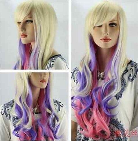 Free Shipping Hot Lockshop Platinum Blonde Pink And Purple Heat
