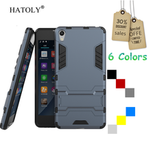 For Sony Xperia E5 Case F3311 F3313 Slim Hard Back Cover Shockproof Robot Armor Hybrid Rubber Silicone Phone Case For Sony E5