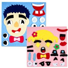 Puzzles TOY Parents And Kids Five Sense Organs 1Set DIY Assembling Jigsaw Children Recognition Training Educational Toys