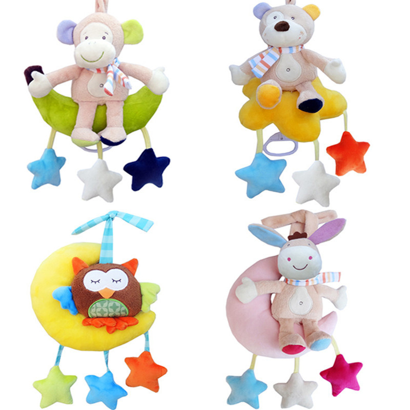 Baby Rattle Toys for a Stroller Animal Doll Crib Hanging Teether Mobile on the Bed Rattles Educational Toys for Newborn infant multifunctional rattles bed stroller mobile baby toys newborn cartoon dog hanging grasp educational toy crib baby rattle