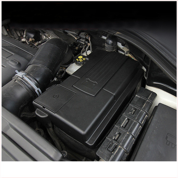 lsrtw2017 abs fireproof car Battery positive pole nagative pole cover for volkswagen tiguan 2017 2018 2019 2020 image