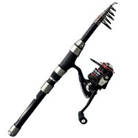 One Set Of Telescopic Fishing Rods Portable Travel Spin Fishing Rod Tackle Tool For Fishing Enthusiasts Or Collectors