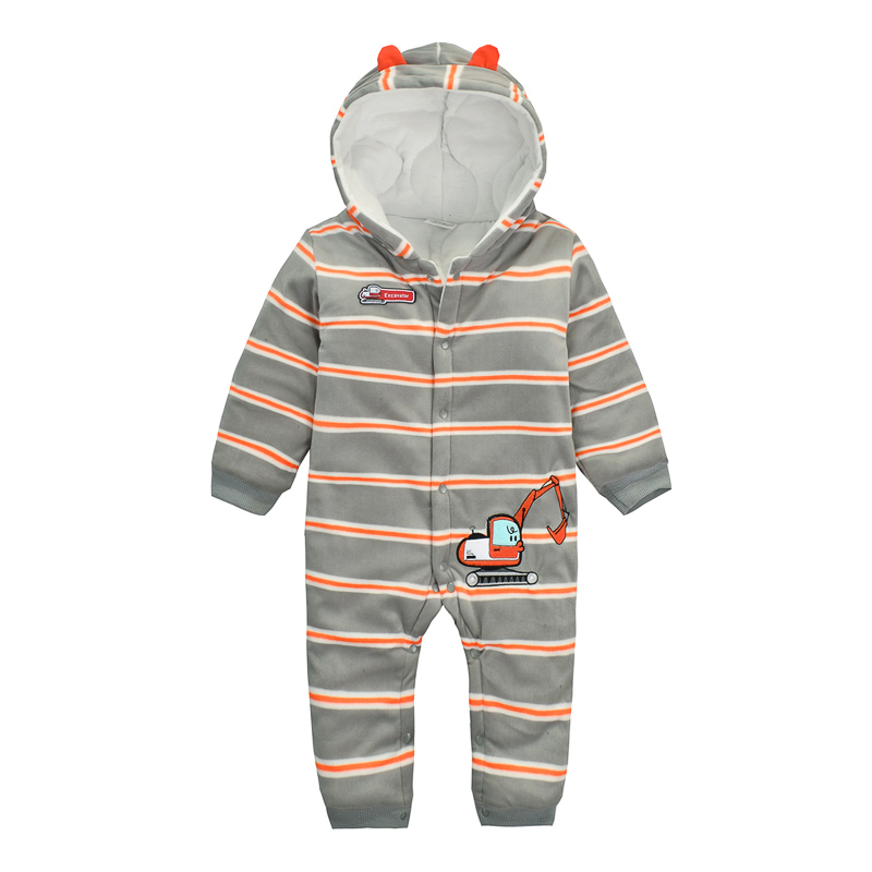 6007 Aosta Betty Baby Girl Romper Top Cotton-padded Thickening Fleece kids overalls Striped Newborn Unisex Baby Winter Romper  6003 aosta betty baby rompers top quality cotton thickening clothes cute cartoon tiger onesie for baby lovely hooded baby winter