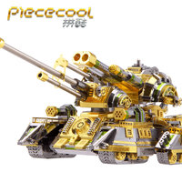Piececool SKYNET SPIOER SUPERHEAVY TANK Metal Assembly Model Puzzle Jigsaw 2017 NEW Creative toys Home Furnishing ornaments
