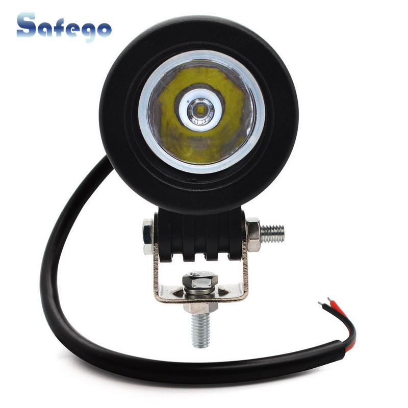 Safego 10W LED WORK LIGHT 12V led tractor work lights offroad driving 4X4 ATV car motorcycle led Lights for truck round-in Light Bar/Work Light from Automobiles & Motorcycles