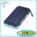 Горячий продавать 10000 мАч водонепроницаемый со СВЕТОДИОДНОЙ подсветкой солнечная powerbank 18650 тип