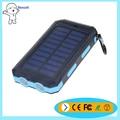 Venta caliente 10000 mah powerbank 18650 tipo impermeable con LED luz solar