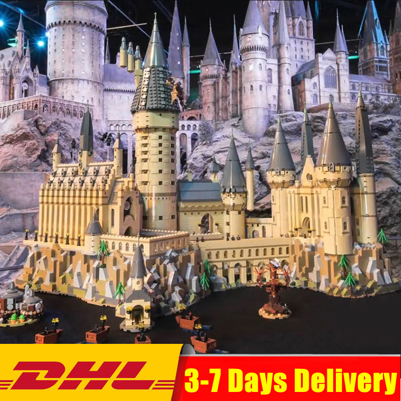 2018 Compatibile Legoings 71043 6742 pcs Harry Magia Potter Hogwarts Castello Building Blocks Mattoni Bambini FAI DA TE Giocattolo
