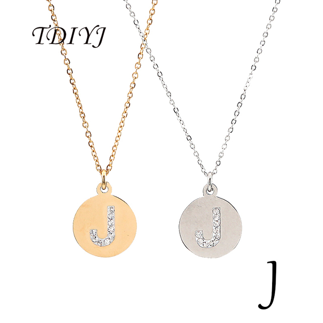 Tdiyj 2pcs silver and gold stainless steel j letter charm initial tdiyj 2pcs silver and gold stainless steel j letter charm initial pendant necklace fashion charms word aloadofball Images
