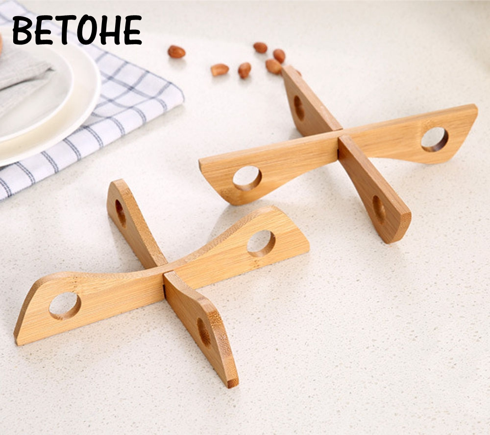 BETOHE Bamboo Heat Resistant Pan Mats Removable Pot Mat Holder Cooking Insulation Pad Bowl Cup Coasters Kitchen Accessories