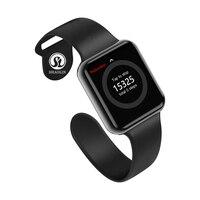 Bluetooth Смарт часы Носимых устройств уведомление о синхронизации поддержка Whatsapp для Apple Ios Iphone умные часы для телефона на Android (красная кнопка)