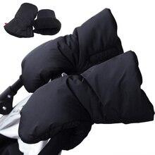 Winter Pram Warm Hand Muff Waterproof Baby Pushchair Fur Fleece Cover Stroller Accessories Gloves Thicken Mittens