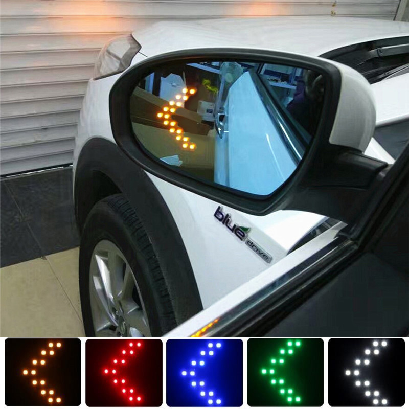 2x14 SMD LED Pfeil Panel Für <font><b>Jeep</b></font> Renegade <font><b>Grand</b></font> <font><b>Cherokee</b></font> Wrangler JK Kompass Liberty Patriot TJ Auto LED rückspiegel Licht image