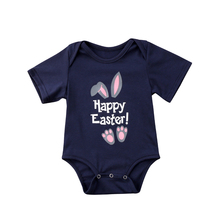 Happy Easter Newborn Baby Girls Boys Clothe Cartoon Bunny Romper Jumpsuit Cotton baby boys girls clothing Easter Costume Outfits(China)