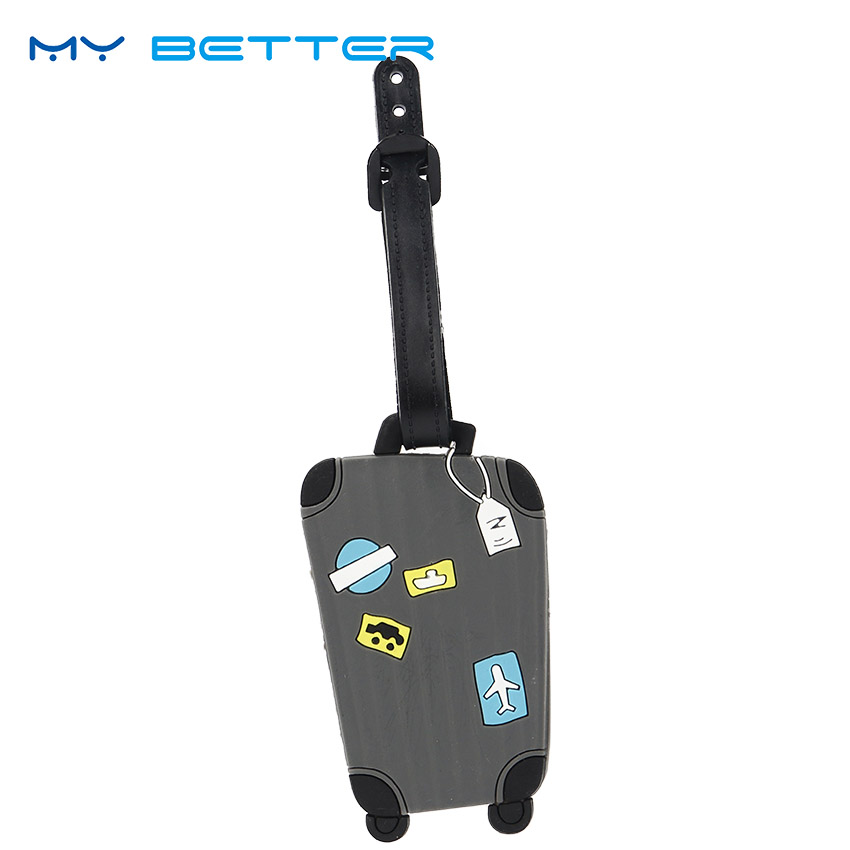 Silica Gel Suitcase Travel Accessories Candy Color Luggage Tag ID Address Holder Baggage Boarding Tags Portable Label