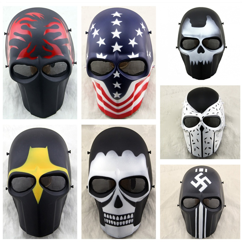 ZJZ01 Army Of Two Skull Military Airsoft Tactical Full Face Protective Mask Paintball CS Wargame Hunting Halloween Party Mask
