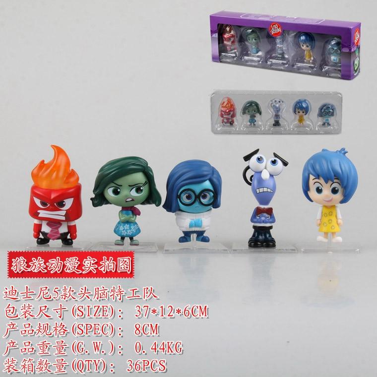 Anime Cartoon <font><b>Inside</b></font> <font><b>Out</b></font> <font><b>PVC</b></font> <font><b>Action</b></font> <font><b>Figure</b></font> Collectible Model <font><b>Toy</b></font> Kids Gift Dolls for Children 8cm 5pcs/set KT1293