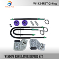 YD FREE SHIPPING FOR VW POLO 9N WINDOW REGULATOR REPAIR KIT FRONT-RIGHT WINDOW REGULATOR CLIP KIT COMPLETE SET
