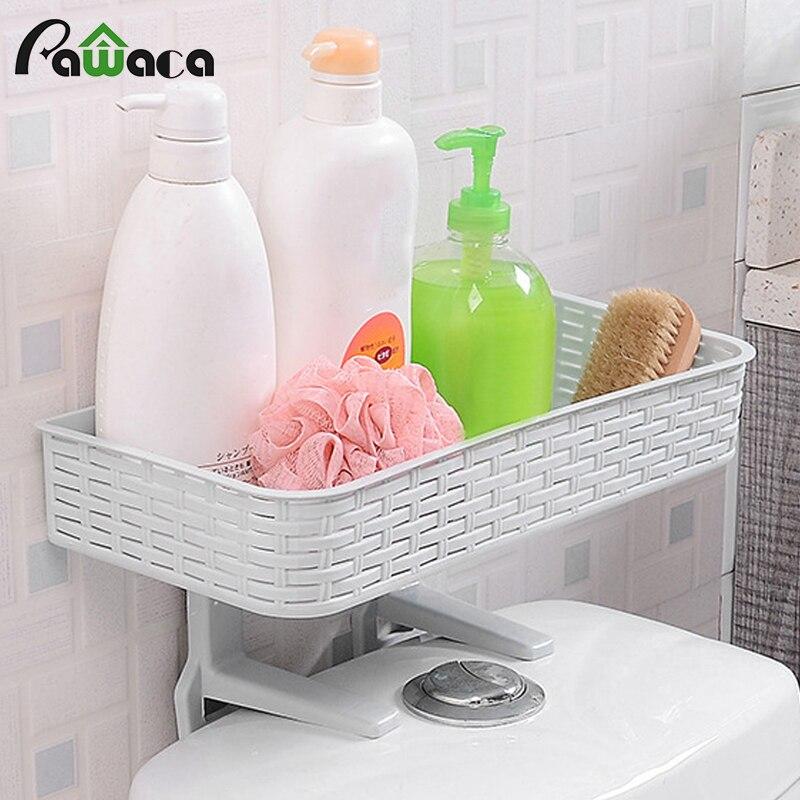 Multifunction Kitchen Bath wall space saving shelf rack plastic Storage Holders to hold shampoo soap bath Organizer at toilet