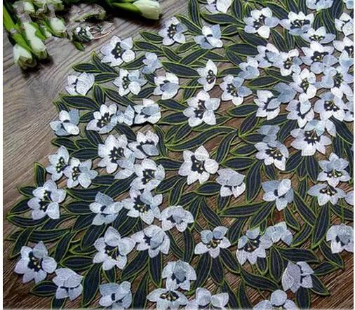 Nappe complète broderie nappe tissu brodé nappe couverture serviettes sous-verres