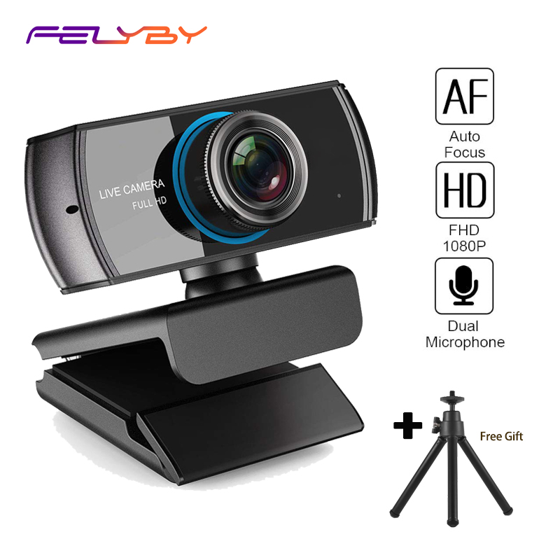 FELYBY Full HD Webcam 1080p Game Web cam with Mic for Video Chatting and Recording Compatiable Xbox One PC Laptop