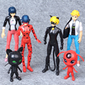 6PCS/SET Miraculous Ladybug Action Figure Toys Adrien Noir Agreste Cat Plastic Doll Christmas Gift Kids Education Toy