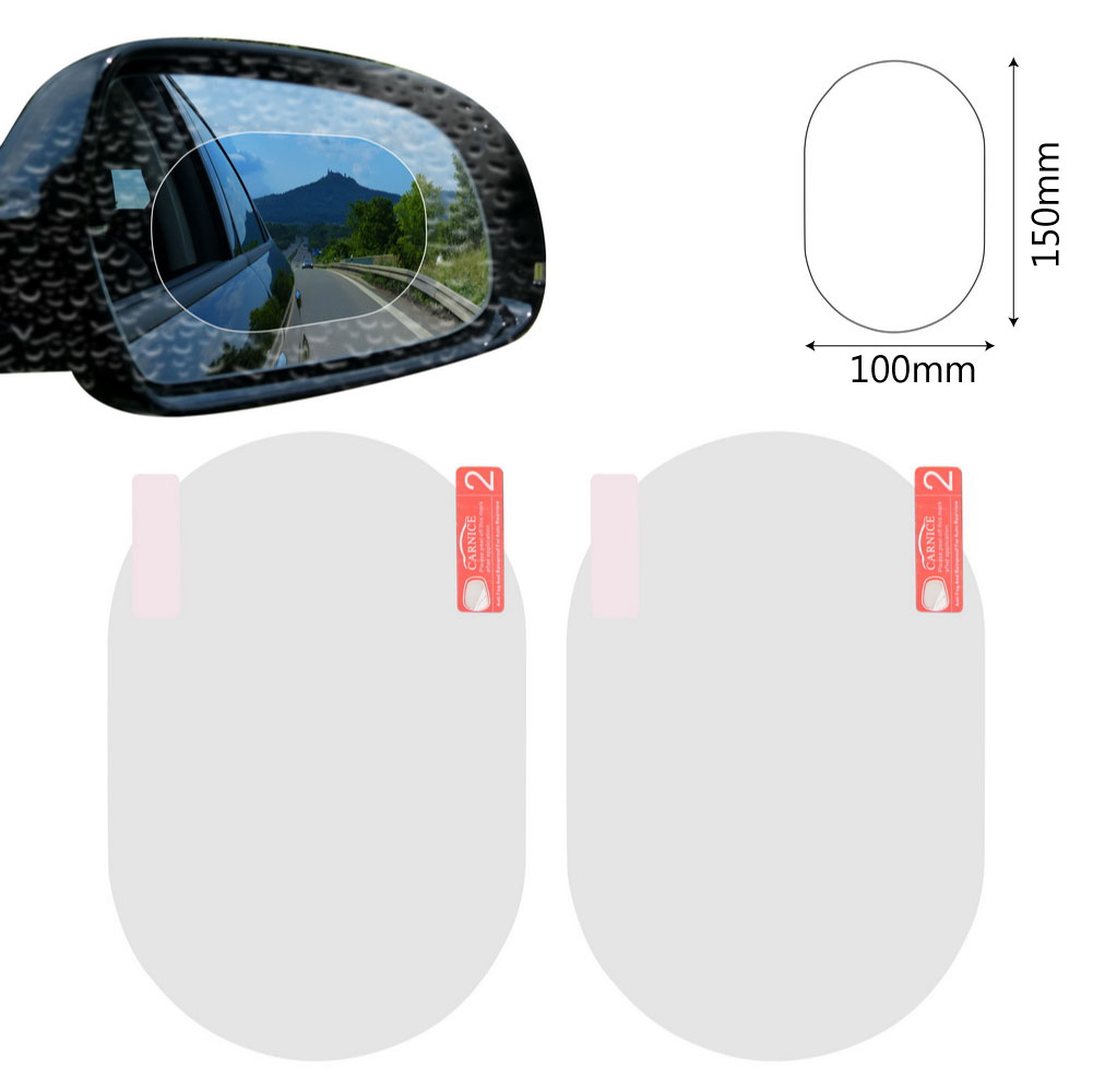 2PCS/Set Anti Fog Car Mirror Window Clear Film Anti-glare Car Rearview Mirror Protective Film Waterproof Rainproof Car Sticker 7