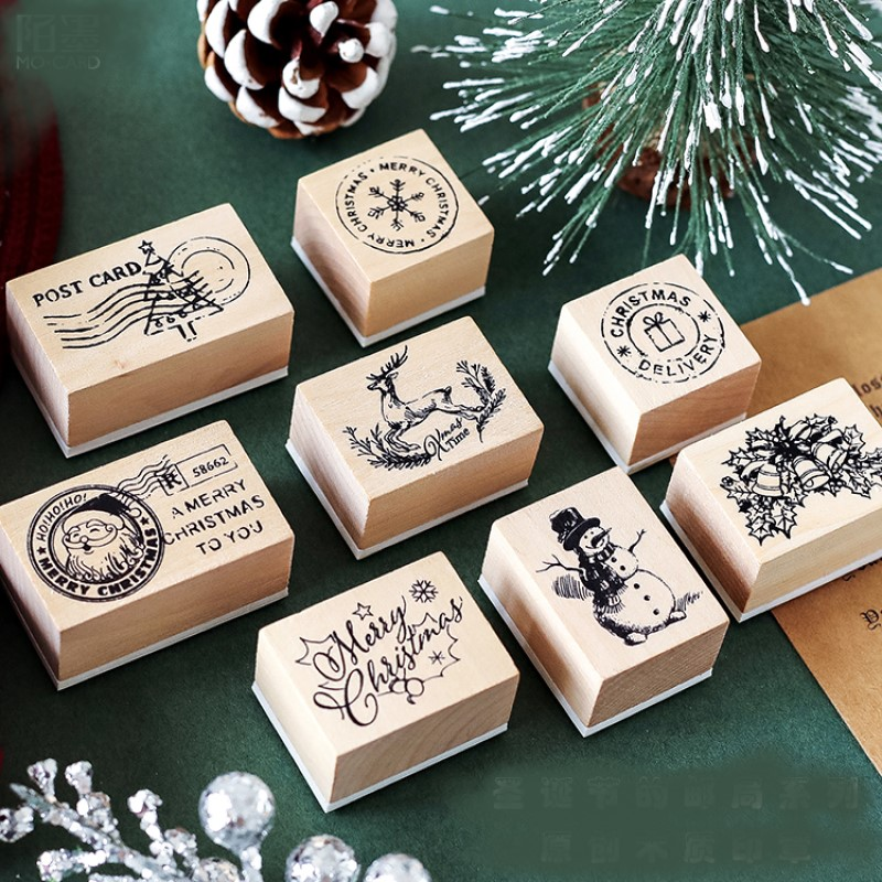 Christmas Stamps Scrapbooking Material Postcard Snowflake Bell Gift Design Cards Making DIY Stationery Craft Supplier 2021