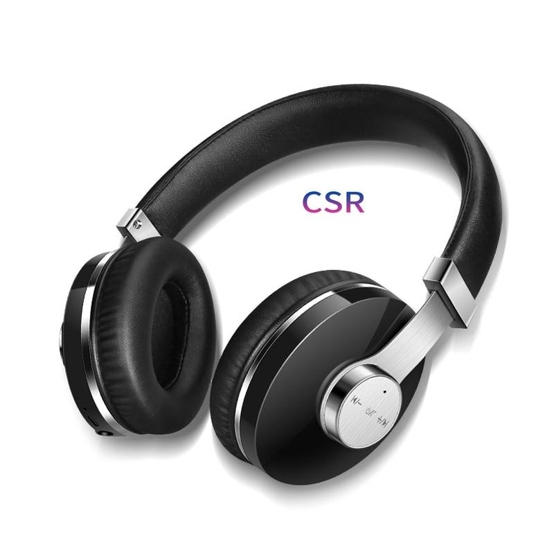 Casque sans fil Bluetooth casque pliable casque réglable écouteurs avec Microphone pour PC téléphone portable Mp3