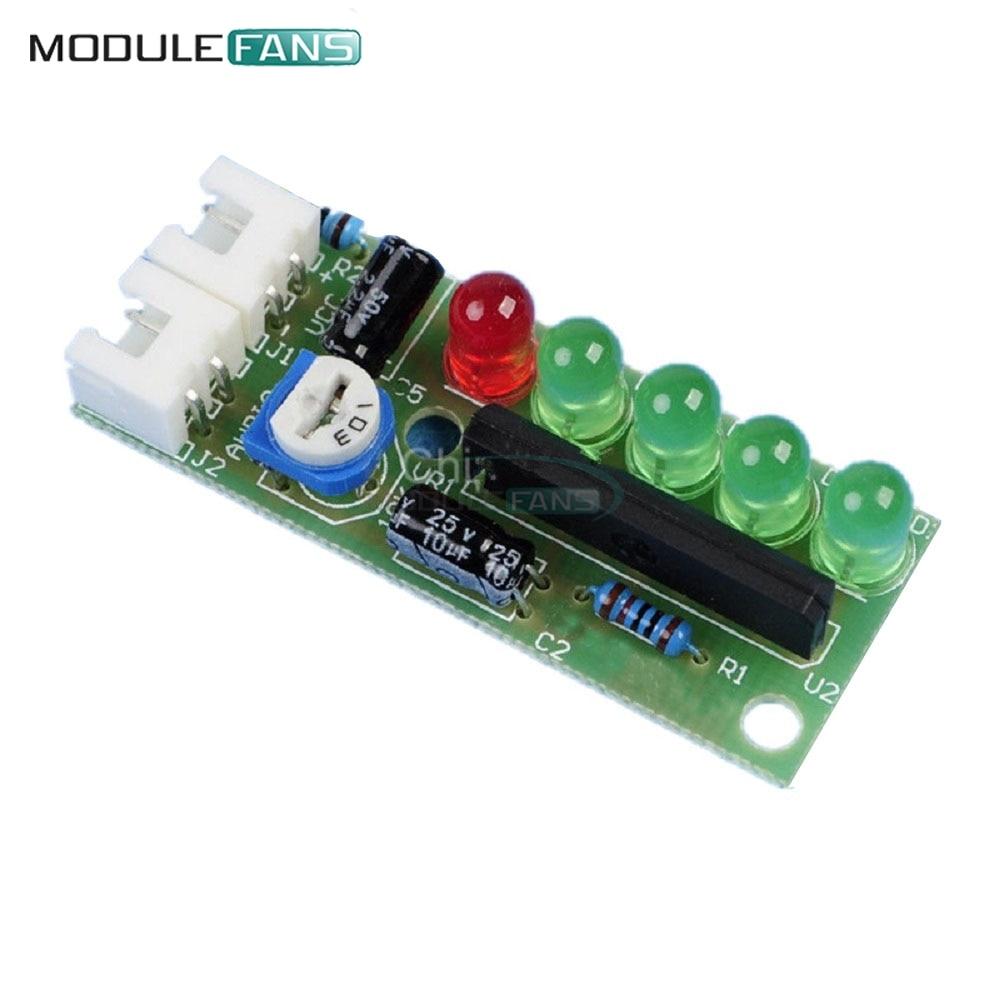 DIY KA2284 KIT Audio Level Indicator Suite Trousse 5mm RED Green LED 3.5-12V