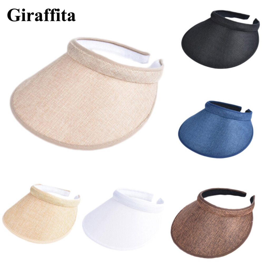 New Spring Summer Visors Cap Wide Large Brim Sun Hat Beach Hats for Women Straw Hat Wholesale image