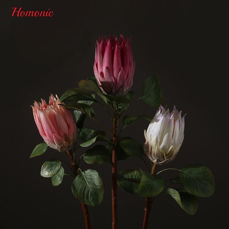 groot kunstbloemen boeket Zuid-Afrika nationale bloem Protea - Feestversiering en feestartikelen - Foto 5