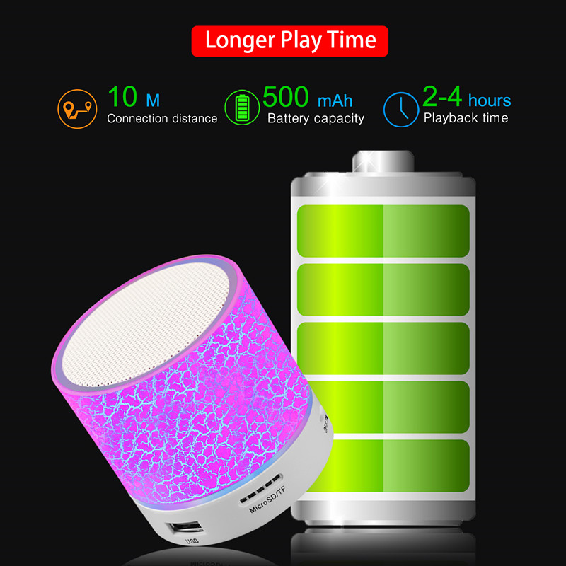 GETIHU LED Bluetooth Speakers Wireless Portable Mini Hands Free Speaker TF USB FM Mic Blutooth Music For iPhone 8 X Mobile Phone 3