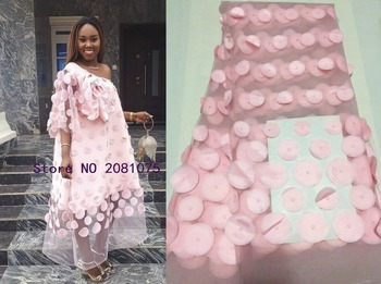 Latest\High Quality African Tulle Lace Fabric 2018 Onion Color Nigerian Lace Fabrics For Wedding 2018
