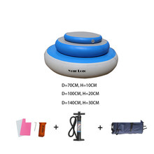 140cm Dx30cm Inflatable Air Spot Gymnastics Mat Air Barrel for Exercise Training with Foot Pump Round Gymnastic Equipment(China)