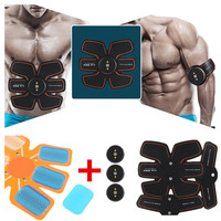 New Smart EMS Stimulator Training Fitness Gear Muscle Abdominal Exerciser Toning Belt Battery Abs with Hydrogel Mat Replacement