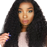 180% Density Full Lace Human Hair Wigs Brazilian Remy Kinky Curly Wig Pre Plucked Lace Front With Baby Hair You May