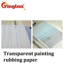 Painting rubbing paper transparent paper rub DIY decorative scrapbooking trendy drawing and writing practice see throught paper
