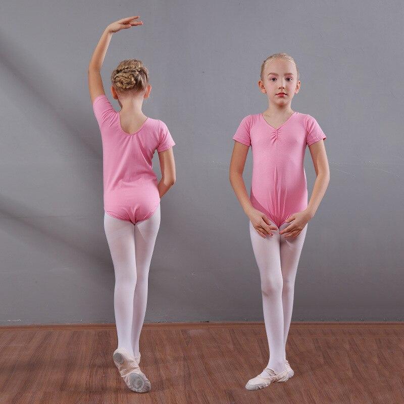 100% Waar Kinderen Ballet Dansen Pak Korte Mouw O Hals Dansen Jumpsuit Meisjes Dans Praktijk Turnpakje Body Kostuum Ballet Slijtage D0795