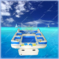 New Design Commercial Inflatable Floating Island in Water ,Inflatable Float In Pool Sea with Free big Air Blower