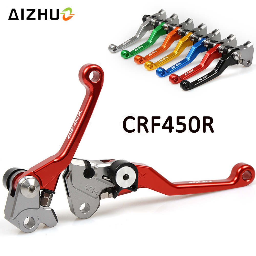 Motorcycle Motocross dirt bike Pivot Brake Clutch Levers for honda CRF450R <font><b>CRF</b></font> 450 R <font><b>CRF</b></font> <font><b>450R</b></font> 2007 08 09 10 11 12 13 14 15 <font><b>2016</b></font> image