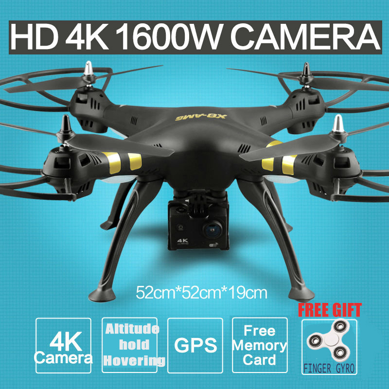 2 4G 6Axis RTF RC Quadcopter X8 GPS Real Time RC Helicopter Drone With Camera HD